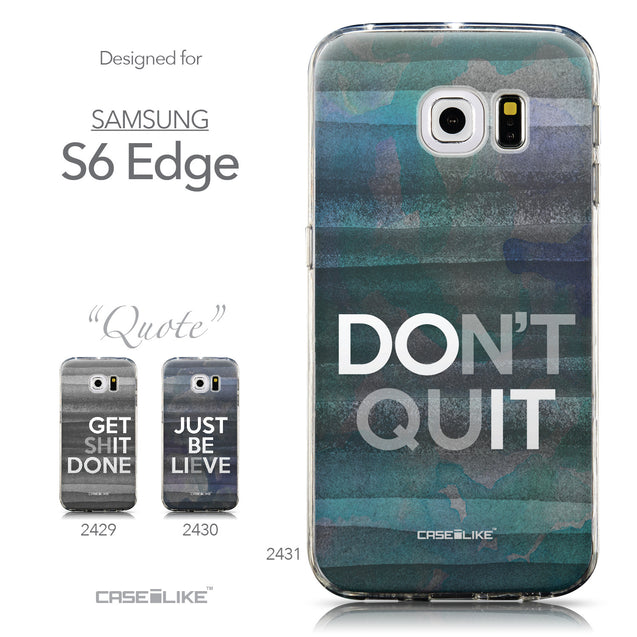 Collection - CASEiLIKE Samsung Galaxy S6 Edge back cover Quote 2431