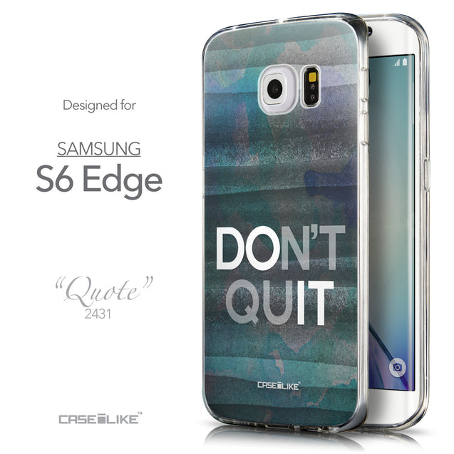 Front & Side View - CASEiLIKE Samsung Galaxy S6 Edge back cover Quote 2431