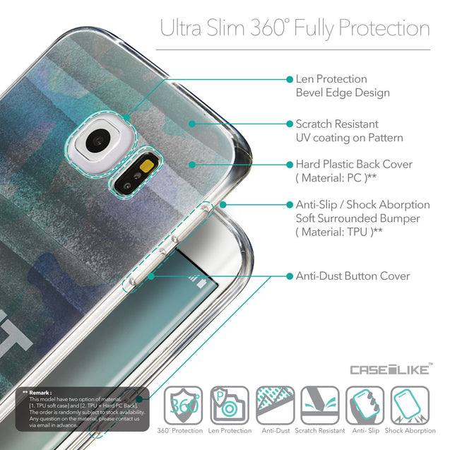 Details in English - CASEiLIKE Samsung Galaxy S6 Edge back cover Quote 2431