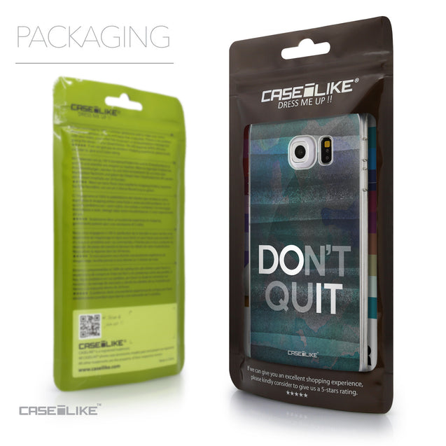 Packaging - CASEiLIKE Samsung Galaxy S6 Edge back cover Quote 2431