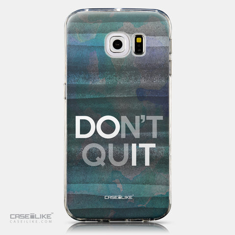 CASEiLIKE Samsung Galaxy S6 Edge back cover Quote 2431