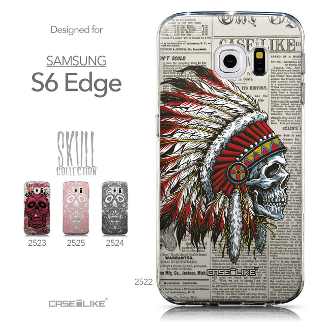 Collection - CASEiLIKE Samsung Galaxy S6 Edge back cover Art of Skull 2522