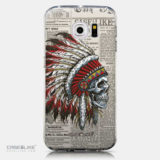 CASEiLIKE Samsung Galaxy S6 Edge back cover Art of Skull 2522