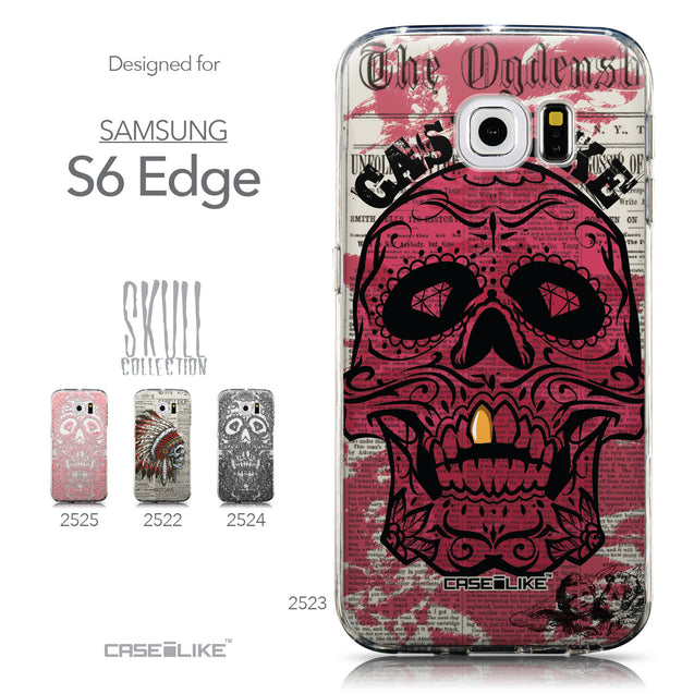 Collection - CASEiLIKE Samsung Galaxy S6 Edge back cover Art of Skull 2523