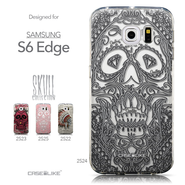 Collection - CASEiLIKE Samsung Galaxy S6 Edge back cover Art of Skull 2524