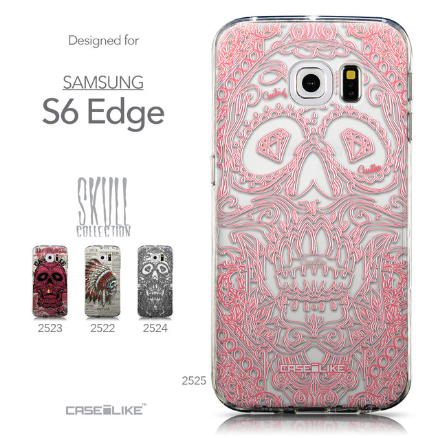 Collection - CASEiLIKE Samsung Galaxy S6 Edge back cover Art of Skull 2525