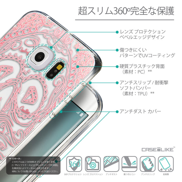 Details in Japanese - CASEiLIKE Samsung Galaxy S6 Edge back cover Art of Skull 2525