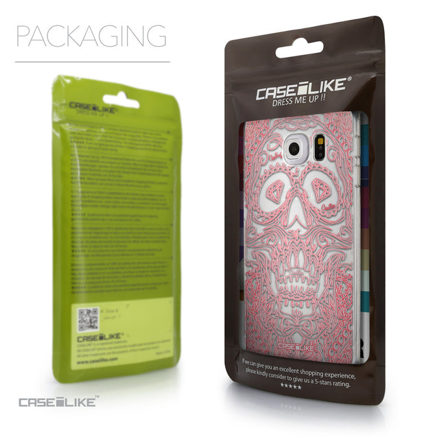 Packaging - CASEiLIKE Samsung Galaxy S6 Edge back cover Art of Skull 2525
