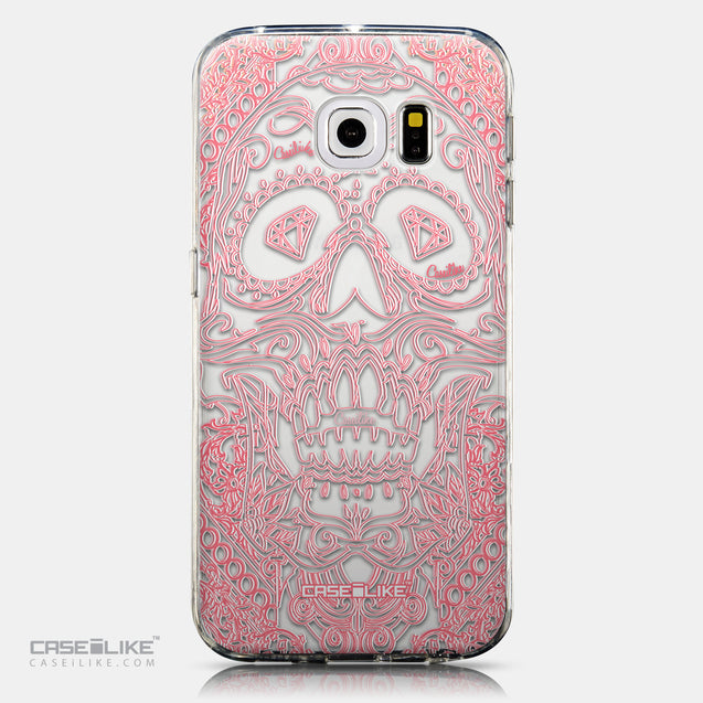 CASEiLIKE Samsung Galaxy S6 Edge back cover Art of Skull 2525