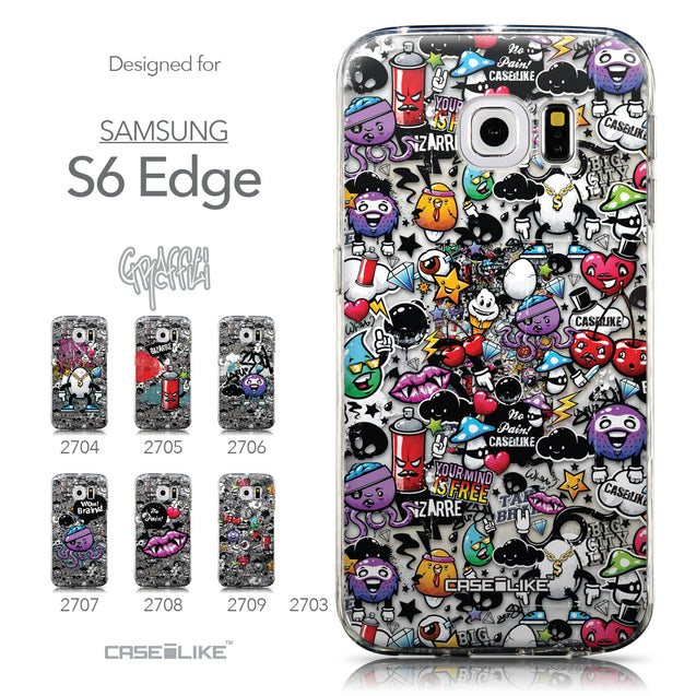 Collection - CASEiLIKE Samsung Galaxy S6 Edge back cover Graffiti 2703