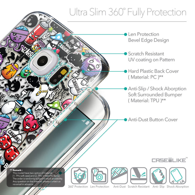 Details in English - CASEiLIKE Samsung Galaxy S6 Edge back cover Graffiti 2703