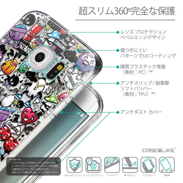 Details in Japanese - CASEiLIKE Samsung Galaxy S6 Edge back cover Graffiti 2703