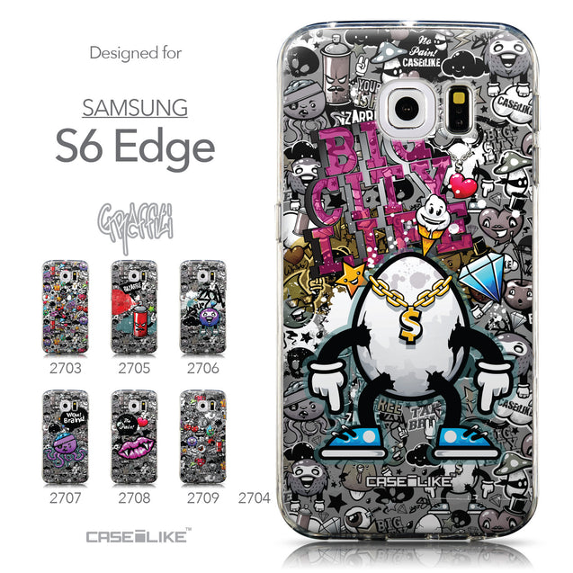 Collection - CASEiLIKE Samsung Galaxy S6 Edge back cover Graffiti 2704