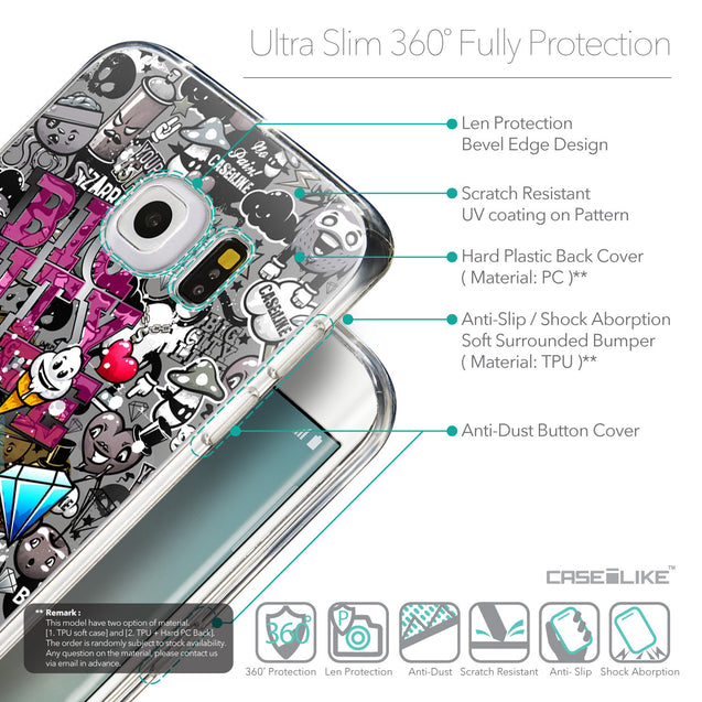 Details in English - CASEiLIKE Samsung Galaxy S6 Edge back cover Graffiti 2704