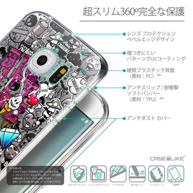 Details in Japanese - CASEiLIKE Samsung Galaxy S6 Edge back cover Graffiti 2704