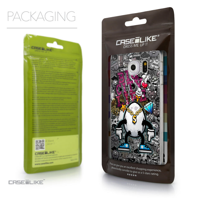 Packaging - CASEiLIKE Samsung Galaxy S6 Edge back cover Graffiti 2704