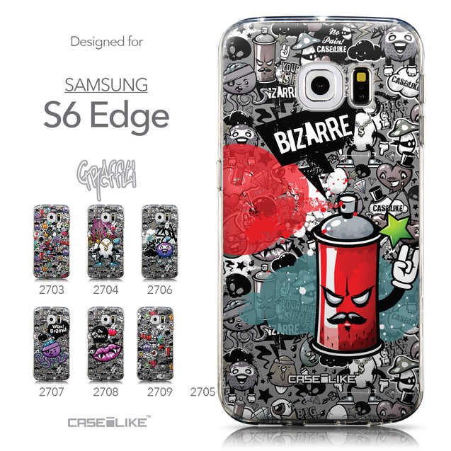 Collection - CASEiLIKE Samsung Galaxy S6 Edge back cover Graffiti 2705
