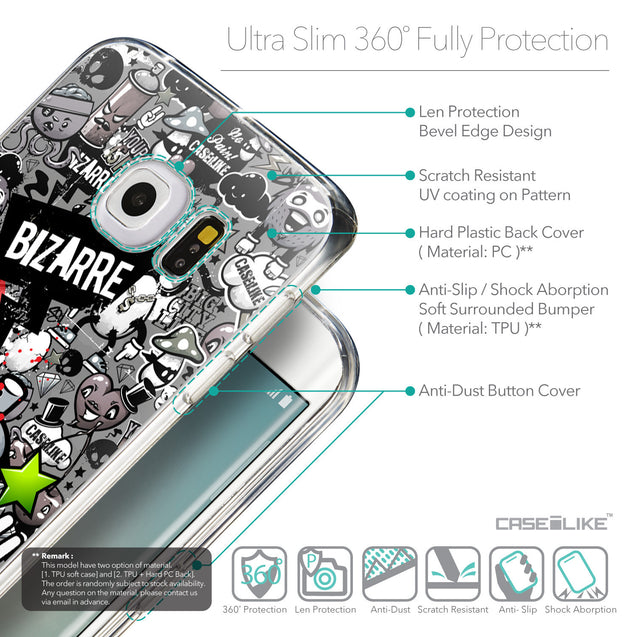 Details in English - CASEiLIKE Samsung Galaxy S6 Edge back cover Graffiti 2705