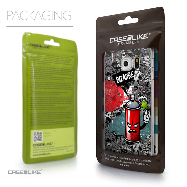 Packaging - CASEiLIKE Samsung Galaxy S6 Edge back cover Graffiti 2705