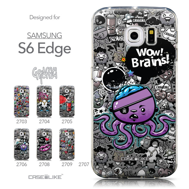 Collection - CASEiLIKE Samsung Galaxy S6 Edge back cover Graffiti 2707