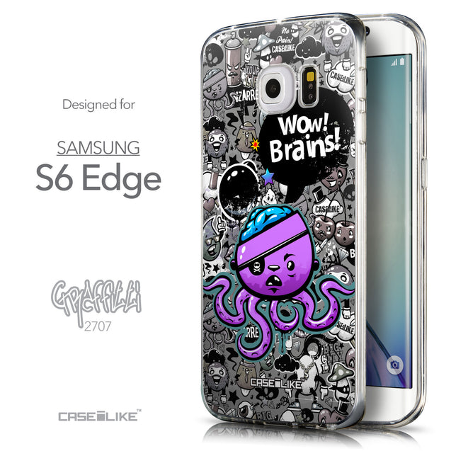 Front & Side View - CASEiLIKE Samsung Galaxy S6 Edge back cover Graffiti 2707