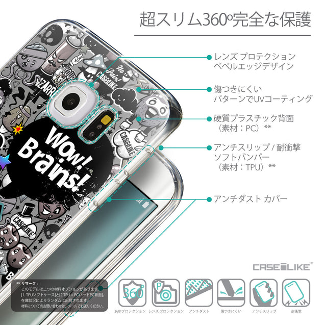 Details in Japanese - CASEiLIKE Samsung Galaxy S6 Edge back cover Graffiti 2707