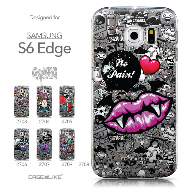 Collection - CASEiLIKE Samsung Galaxy S6 Edge back cover Graffiti 2708