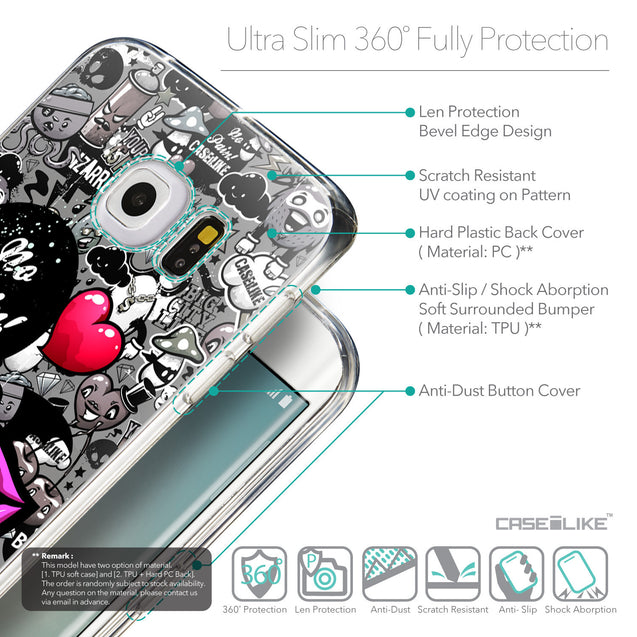 Details in English - CASEiLIKE Samsung Galaxy S6 Edge back cover Graffiti 2708