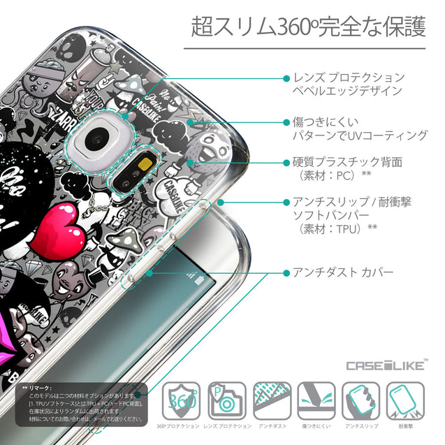 Details in Japanese - CASEiLIKE Samsung Galaxy S6 Edge back cover Graffiti 2708