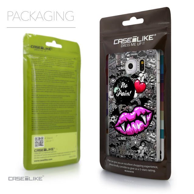 Packaging - CASEiLIKE Samsung Galaxy S6 Edge back cover Graffiti 2708