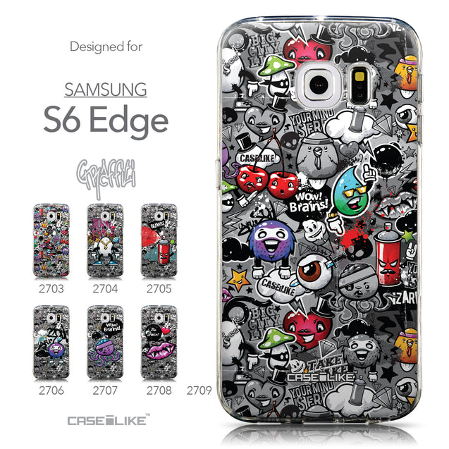 Collection - CASEiLIKE Samsung Galaxy S6 Edge back cover Graffiti 2709