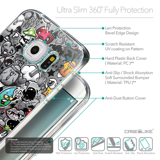 Details in English - CASEiLIKE Samsung Galaxy S6 Edge back cover Graffiti 2709