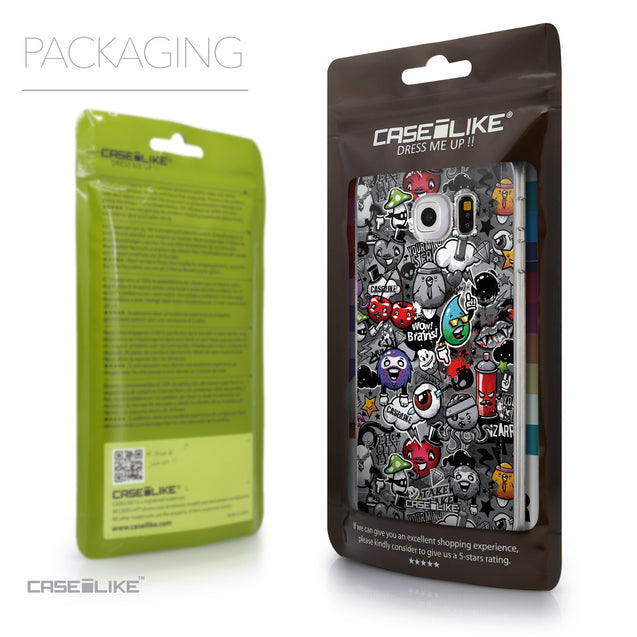 Packaging - CASEiLIKE Samsung Galaxy S6 Edge back cover Graffiti 2709