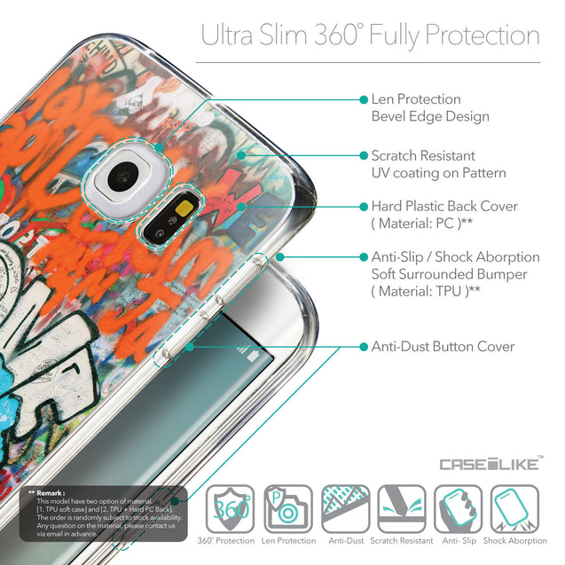 Details in English - CASEiLIKE Samsung Galaxy S6 Edge back cover Graffiti 2722