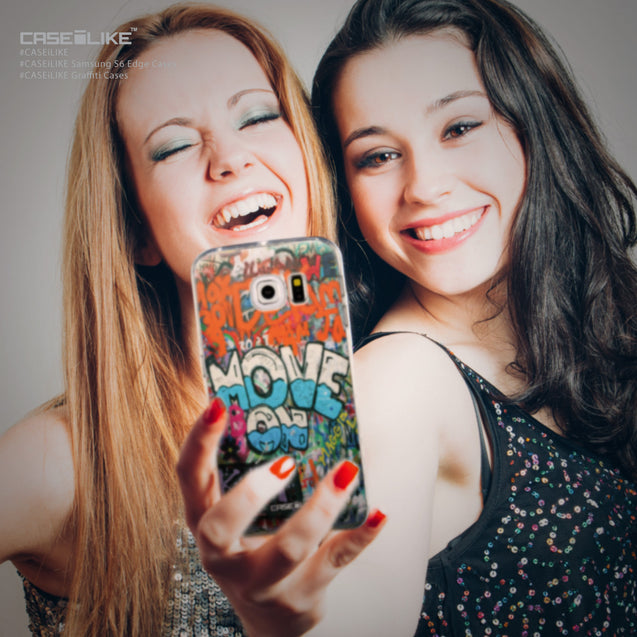 Share - CASEiLIKE Samsung Galaxy S6 Edge back cover Graffiti 2722