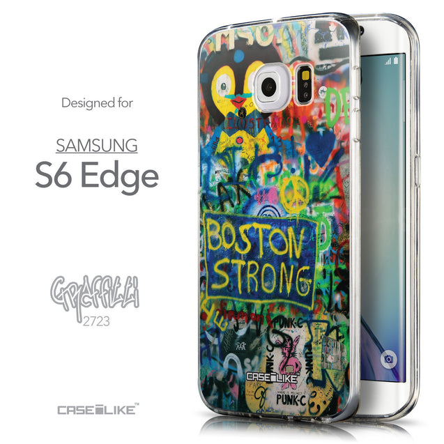 Front & Side View - CASEiLIKE Samsung Galaxy S6 Edge back cover Graffiti 2723