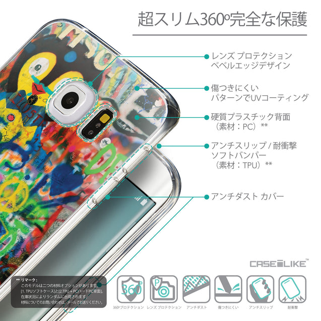 Details in Japanese - CASEiLIKE Samsung Galaxy S6 Edge back cover Graffiti 2723