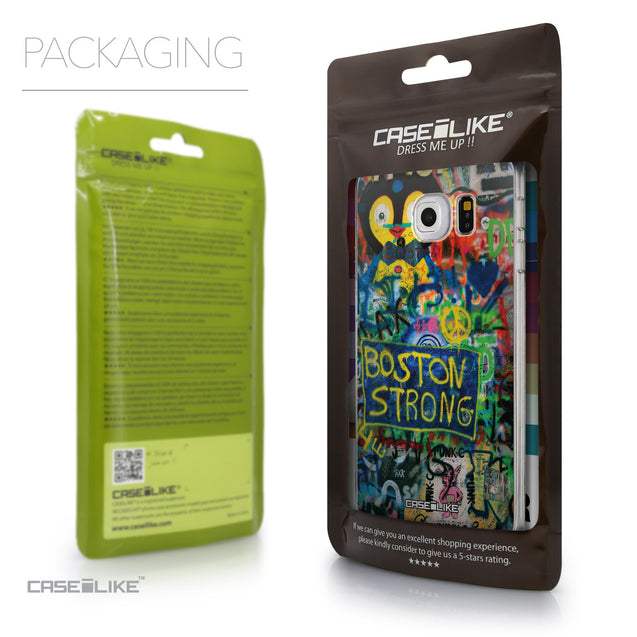 Packaging - CASEiLIKE Samsung Galaxy S6 Edge back cover Graffiti 2723