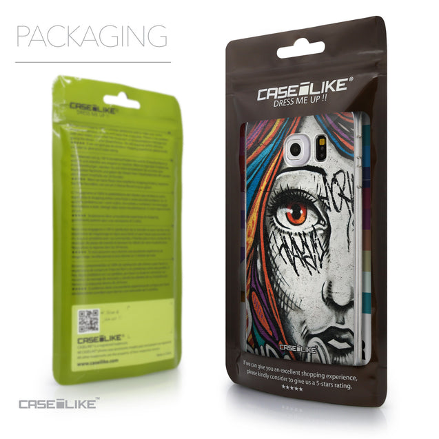 Packaging - CASEiLIKE Samsung Galaxy S6 Edge back cover Graffiti Girl 2724