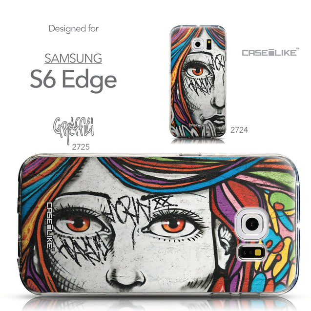 Collection - CASEiLIKE Samsung Galaxy S6 Edge back cover Graffiti Girl 2725