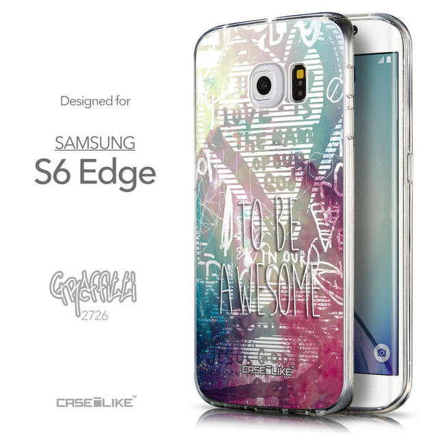 Front & Side View - CASEiLIKE Samsung Galaxy S6 Edge back cover Graffiti 2726