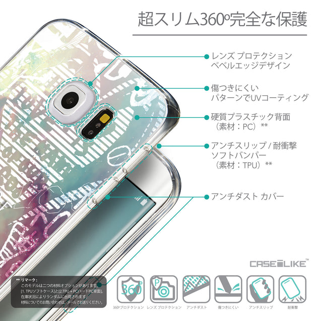 Details in Japanese - CASEiLIKE Samsung Galaxy S6 Edge back cover Graffiti 2726