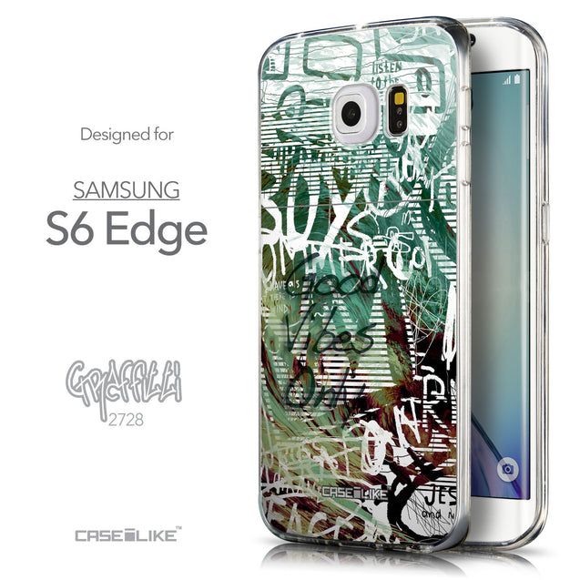 Front & Side View - CASEiLIKE Samsung Galaxy S6 Edge back cover Graffiti 2728