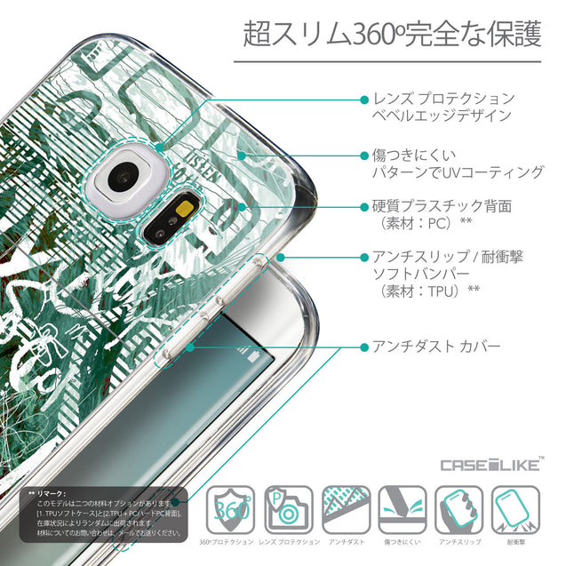 Details in Japanese - CASEiLIKE Samsung Galaxy S6 Edge back cover Graffiti 2728