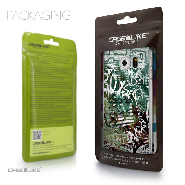 Packaging - CASEiLIKE Samsung Galaxy S6 Edge back cover Graffiti 2728