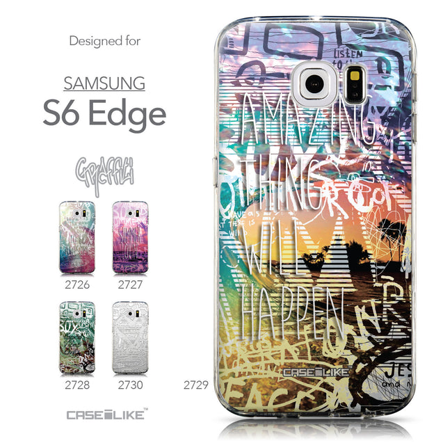 Collection - CASEiLIKE Samsung Galaxy S6 Edge back cover Graffiti 2729