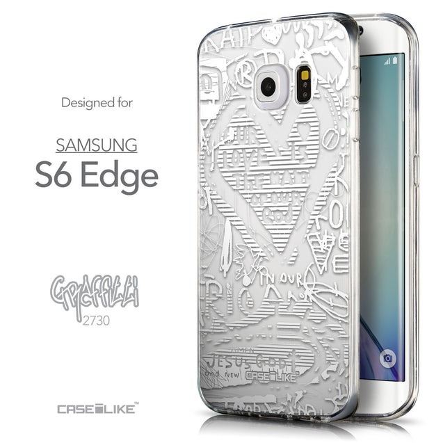 Front & Side View - CASEiLIKE Samsung Galaxy S6 Edge back cover Graffiti 2730
