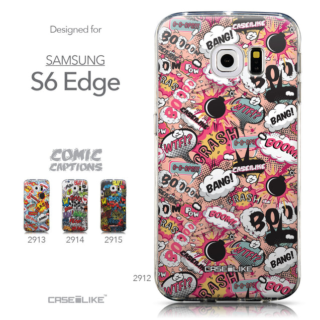 Collection - CASEiLIKE Samsung Galaxy S6 Edge back cover Comic Captions Pink 2912