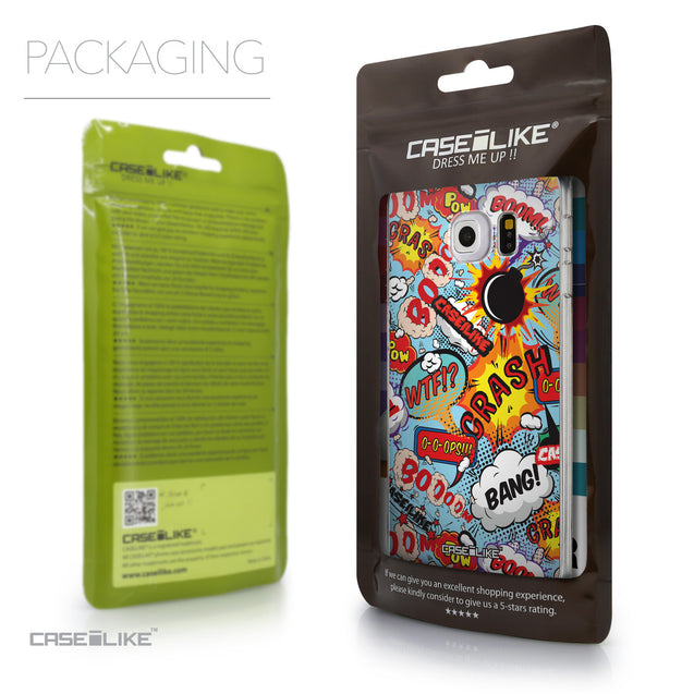 Packaging - CASEiLIKE Samsung Galaxy S6 Edge back cover Comic Captions Blue 2913