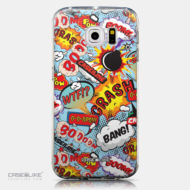 CASEiLIKE Samsung Galaxy S6 Edge back cover Comic Captions Blue 2913